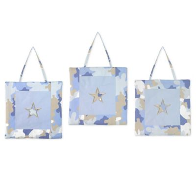 Sweet Jojo Designs Camo Wall Decor in Blue (Set of 3)