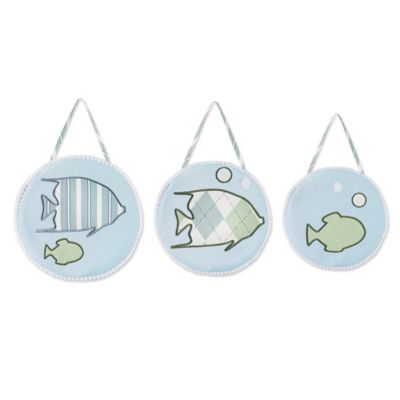 Sweet Jojo Designs Go Fish 3-Piece Plush Wall Hanging Set