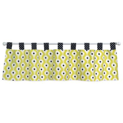 Green Black and White Valance