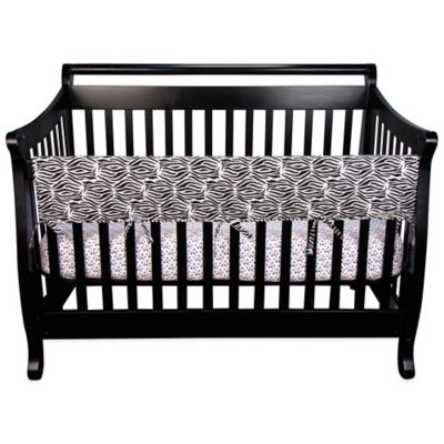 Black/Zebra Print Baby Bedding