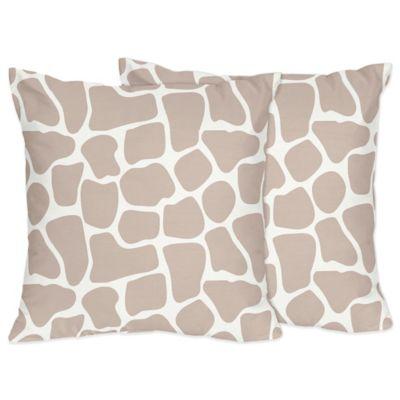Sweet Jojo Designs Giraffe Throw Pillow (Set of 2)
