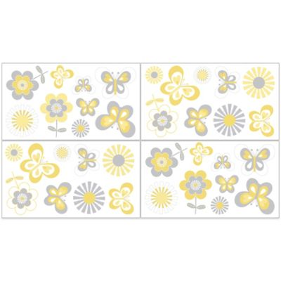 Sweet Jojo Designs Mod Garden Removable Wall Decals