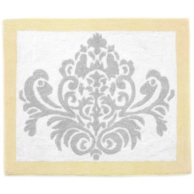 Sweet Jojo Designs Avery Rug in Yellow/Grey