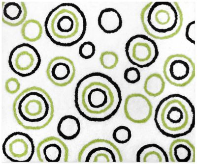 White/Black/Lime Baby Room Decor