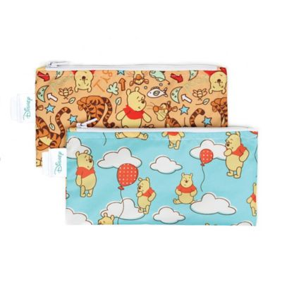 Bumkins® Disney® Winnie the Pooh 2-Pack Small Reusable Snack Bags in Teal/Yellow