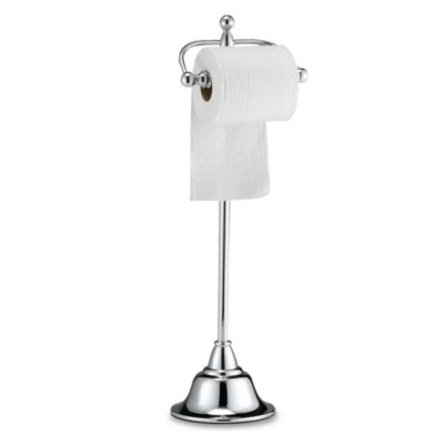 Deluxe Pedestal Chrome Toilet Paper Holder