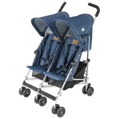 Maclaren® Twin Triumph Double Stroller in Denim