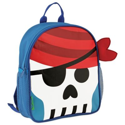 Stephen Joseph Pirate Mini Sidekick Backpack in Blue/Red