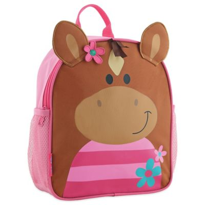 Stephen Joseph Horse Mini Sidekick Backpack in Brown/Pink