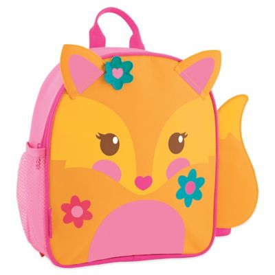 Stephen Joseph Fox Mini Sidekick Backpack in Orange/Pink