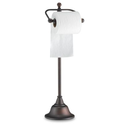Deluxe Pedestal Oil Rubbed Bronze Toilet Paper Holder