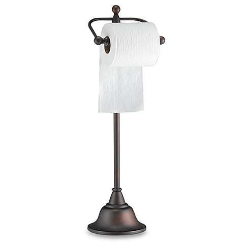 Buy Deluxe Pedestal Oil Rubbed Bronze Toilet Paper Stand