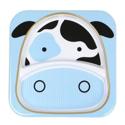 SKIP*HOP® Zoo Divided Plate in Cow