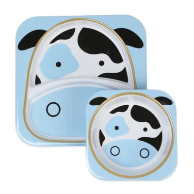 SKIP*HOP® Zoo 2-Piece Melamine Tableware Set in Cow