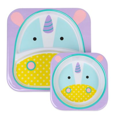 SKIP*HOP® Zoo 2-Piece Melamine Tableware Set in Unicorn