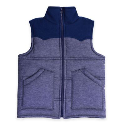 Kapital K™ Size 12-18M Quilted Zip-Up Denim Puffer Vest