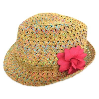 Rising Star Newborn Ombre Fedora with Pink Flower