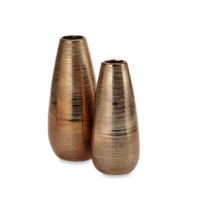 Privilege Large Ceramic Vase in Gold
