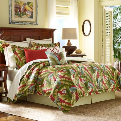 Tommy Bahama® Anguilla California King Comforter Set in Green/Red