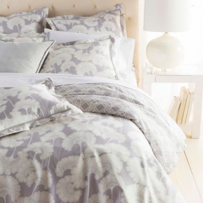 Surya Florence Broadhurst Japanese Floral European Pillow Sham in Grey/White