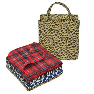 Trellis 2-Piece Fleece Throw and Tote Bag Gift Set