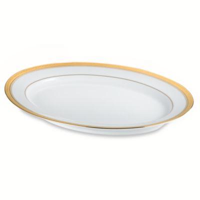 Noritake® Crestwood Gold 14-Inch Oval Platter
