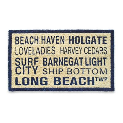 Coastal Long Beach Island Door Mat