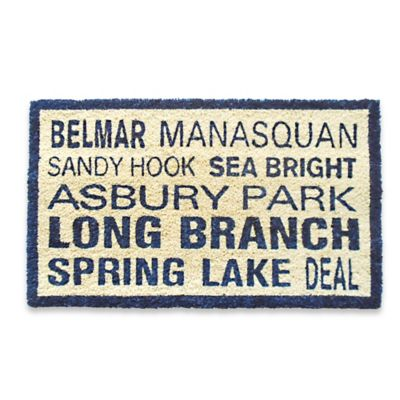 Coastal North Jersey Door Mat