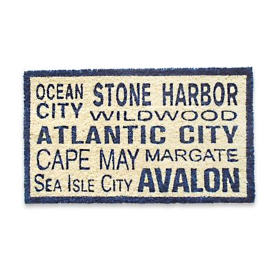 Coastal South Jersey Door Mat