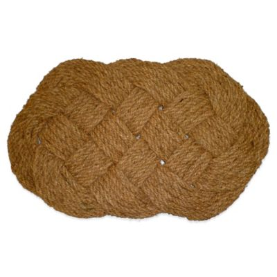 Lovers Knot 20-inch x 30-inch Handwoven Coir Rope Mat