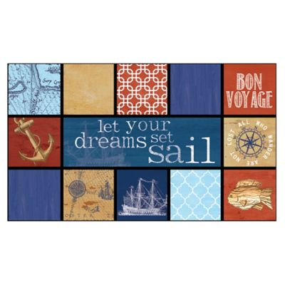 "Masterpiece 18-Inch x 30-Inch ""Let Your Dreams Set Sail"" Door Mat"