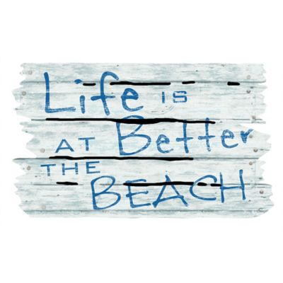 "Masterpiece 18-Inch x 30-Inch ""Life is Better at the Beach"" Door Mat"