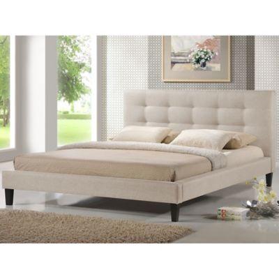 Light Beige Designer Bed