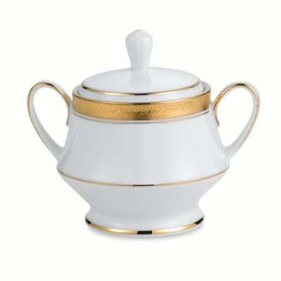 Noritake® Crestwood Gold Covered Sugar Bowl
