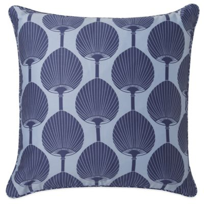 Surya Florence Broadhurst Kabuki Down Throw Pillow in Teal/White