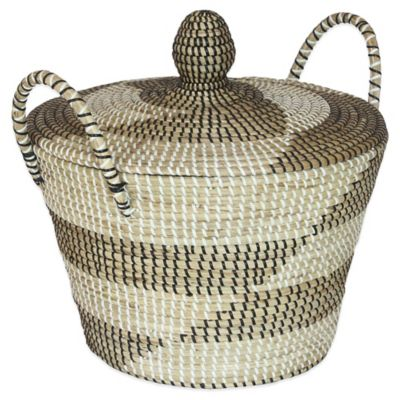 16-Inch x 15-Inch Seagrass Basket in Meadow Finish
