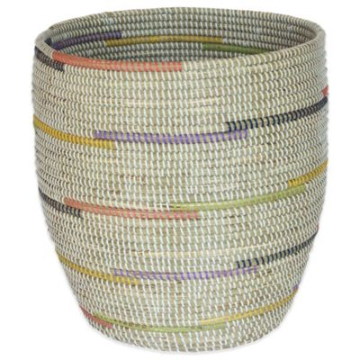 17-Inch x 18-Inch Seagrass Basket in Prismatic Finish