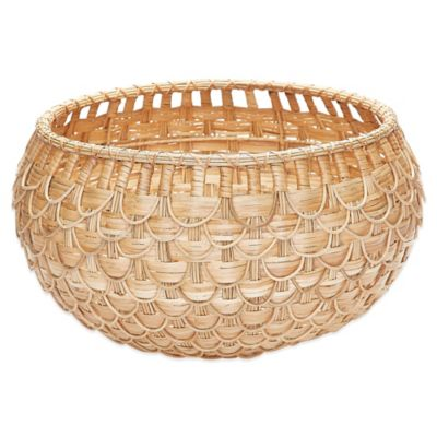 Dimond Home Natural Fish Scale Basket