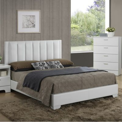 Carlson Modern Queen Bed in White