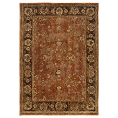 Oriental Weavers Casablanca Floral Border 3-Foot 10-Inch x 5-Foot 5-Inch Rug in Red