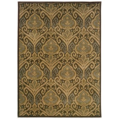 Oriental Weavers Casablanca Damask 9-Foot 10-Inch x 12-Foot 10-Inch Rug in Green