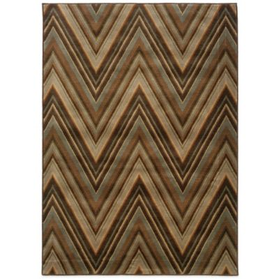 Oriental Weavers Casablanca 3-Foot 10-Inch x 5-Foot 5-Inch Rug in Brown