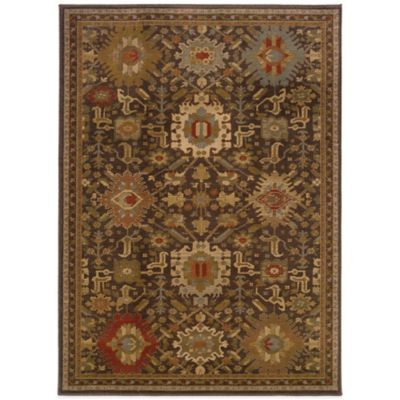 Oriental Weavers Casablanca 7-Foot 10-Inch x 10-Foot 10-Inch Rug in Brown