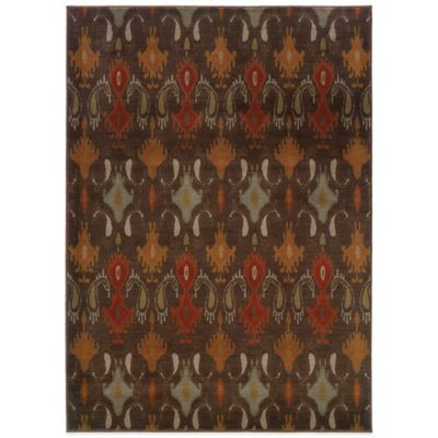 Oriental Weavers Casablanca Ikat 9-Foot 10-Inch x 12-Foot 10-Inch Rug in Brown