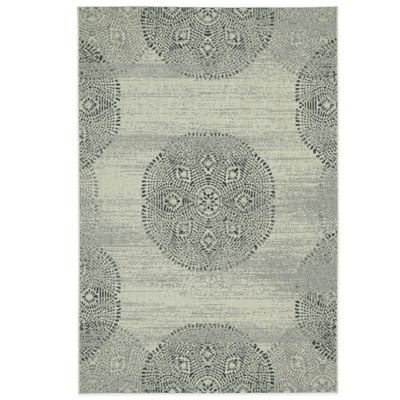 Genevieve Gorder by Capel Rugs Finesse Mandala 5-Foot 3-Inch x 7-Foot 6-Inch Woven Rug in Blue