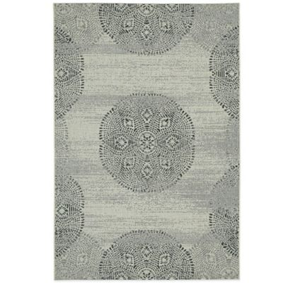 Genevieve Gorder by Capel Rugs Finesse Mandala 3-Foot 11-Inch x 5-Foot 6-Inch Woven Rug in Grey