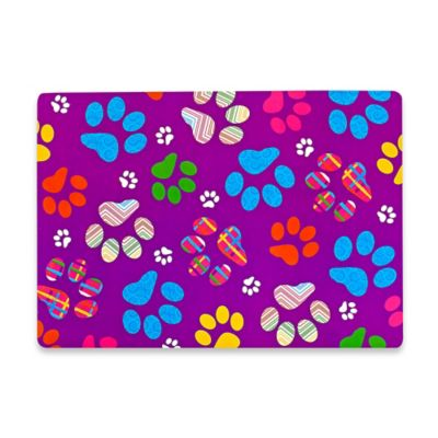 Sam Hedaya Paw Prints Pattern Placemat