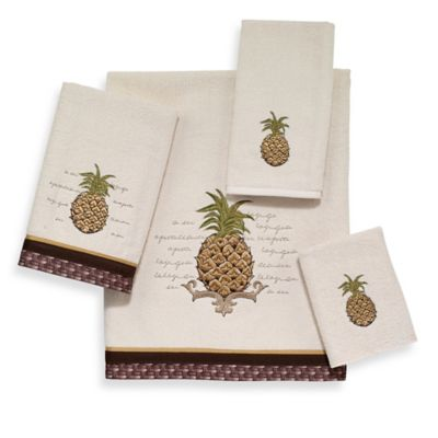 Avanti Pineapple Fingertip Towel