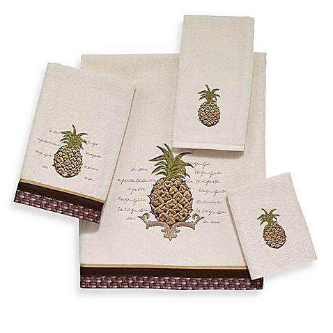 avanti pineapple bath towel collection bed bath beyond