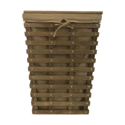 Baum Bros. Trenton Wood Slat Hamper